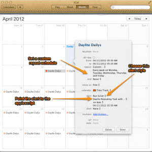 Repeating Daylite Tasks using iCal/Calendar